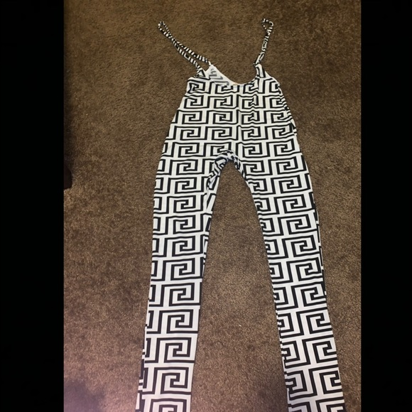 Other - Bodycon Black and white Overall Jumpsuit